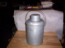 ANTIQUE METAL THERMOS, LID, CUP & HANDLE in Camp Lejeune, North Carolina