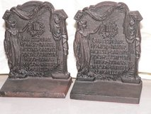 Antique Cast Iron Bookends in Okinawa, Japan