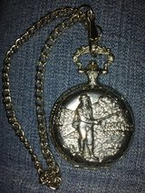 Riviera Quartz Pocket Watch Fishing Design in Oswego, Illinois