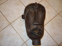 vintage African hand carved wood mask in Houston, Texas