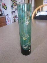 Reduced: Blue Glass Flower Vase in Yorkville, Illinois