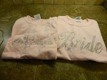"2 pink t-shirts, ""BRIDE"" & ""BRIDESMAID"" in Pasadena, Texas"