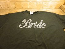 "black medium ""BRIDE"" t-shirt in Pasadena, Texas"